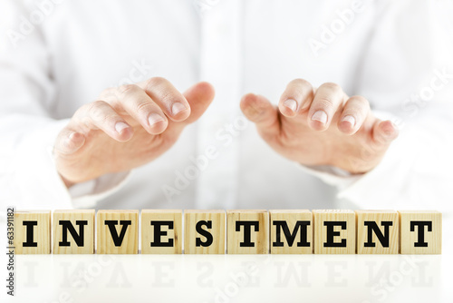 Conceptual image with the word Investment