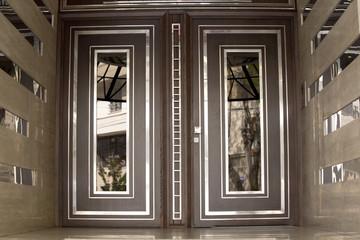 Modern entry front door