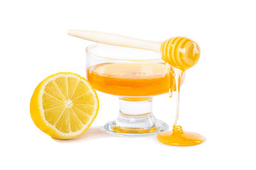 drops of honey and lemon
