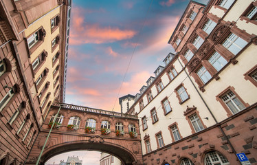 Frankfurt, Germany. Old medieval buildings and architecture