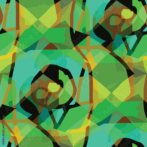 seamless texture brown, green (EPS 8) america ancient background