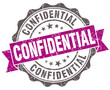 Confidential violet grey grunge retro style isolated seal