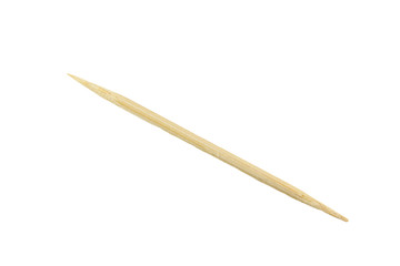 Toothpick made from bamboo wood isolated.