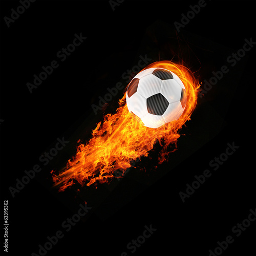 expressive 3d blazing football energy Object concept