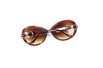 brown sunglasses isolated.