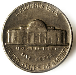 Monticello Nickel United States coin ניקל מטבע אמריקני