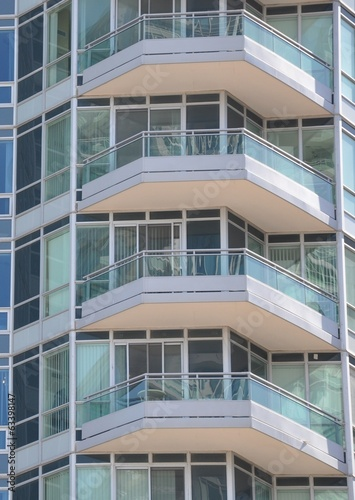 Balconies of residential building