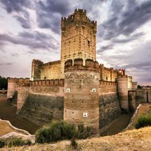 Castillo de la Mota, célèbre vieux château à Medina del Campo, Espagne.
