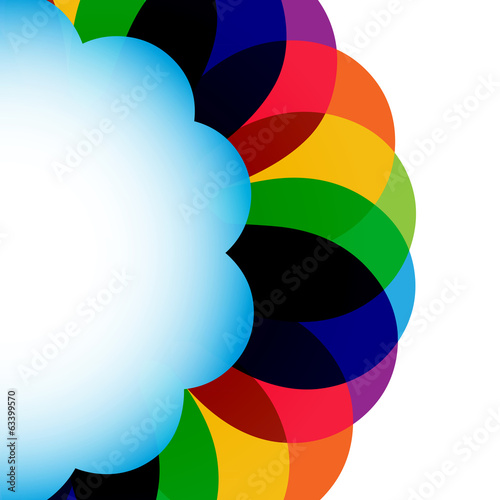 Multicolor abstract circle design