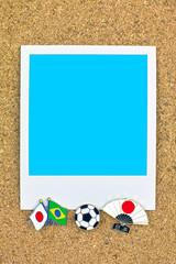 ポラロイド サッカー 国旗のピン ブラジル 日本