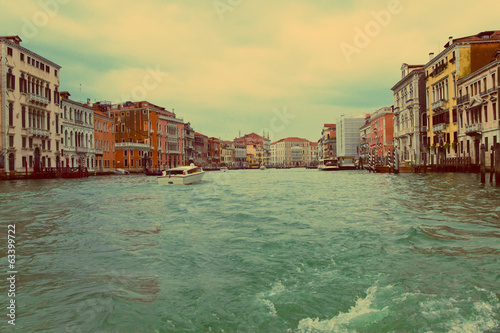 Venice.A bad weather before flooding on Canal Grande