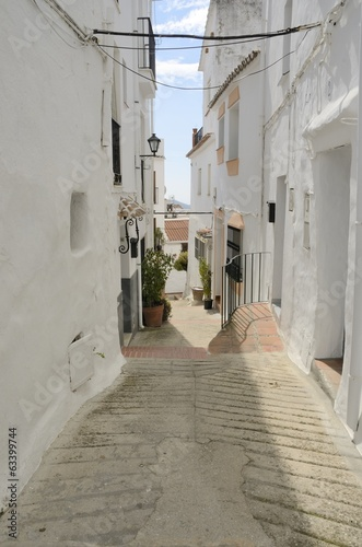 White village of Ojen, Andalusia, Spain