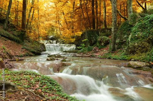 Obraz na Szkle Natural Spring Waterfall