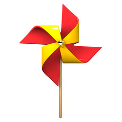 Front View Of Red Yellow Pinwheel