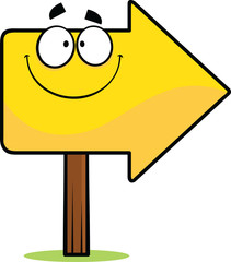 Cartoon Arrow Sign