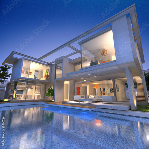 Contemporary house with pool N3