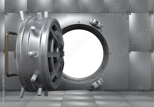 Open Bank Vault Door