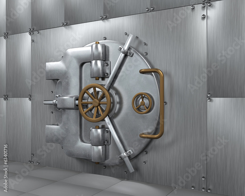 Close Bank Vault Door