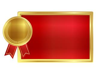 フレーム メダル 金