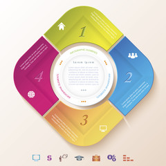 Abstract infographic design with circle and four segments