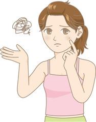 ニキビに悩む女性