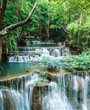 Deep forest waterfall at Huay Mae Khamin, Kanchanaburi