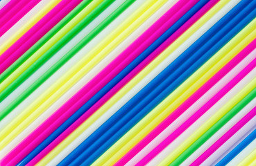 Color craft straws as a background