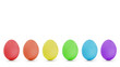 rainbow order easter eggs in a row