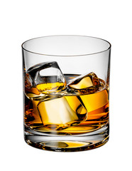 Scotch whiskey with ice