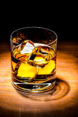 Scotch whiskey with ice