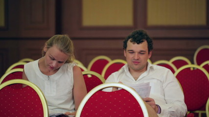 Businesspeople in the conference hall