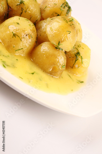 New Potato Bowl Boiled Food