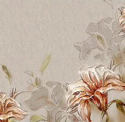 Flower background with lilies