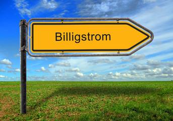 Strassenschild 17 - Billigstrom