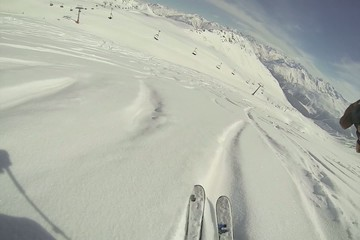 Skiing fresh powder