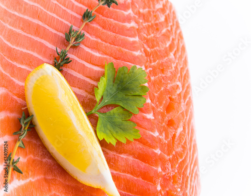 salmon steak red fish