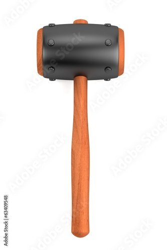 realistic 3d render of blacksmith hammer