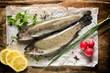 Raw mackerel fish
