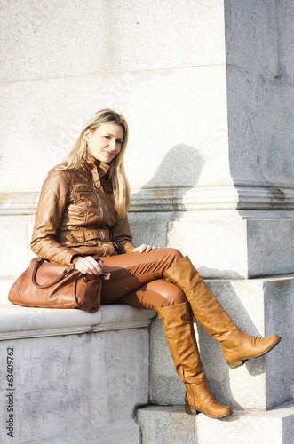 woman sitting in Vienna, Austria