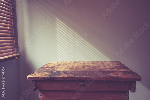 Desk by window