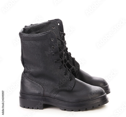Black man's boot.