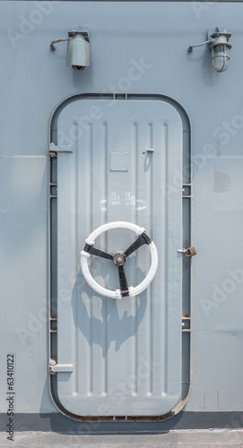 steel door on battleship
