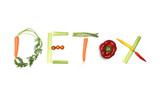detox written with vegetables in healthy nutrition concept poster