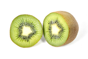 kiwi fruit isolated on white in healthy nutrition concept