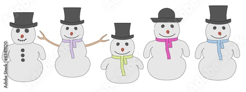 cartooon image of snowman characters