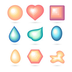Icon bubbles set.