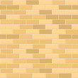 Seamless Pattern of Yellow Brick with Light Seam. Vector