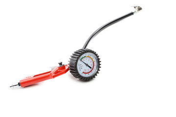 Manometer for car tyre pressure setting
