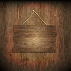 Dark Wood Texture With Wood Board