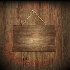 Dark Wood Texture With Wood Board